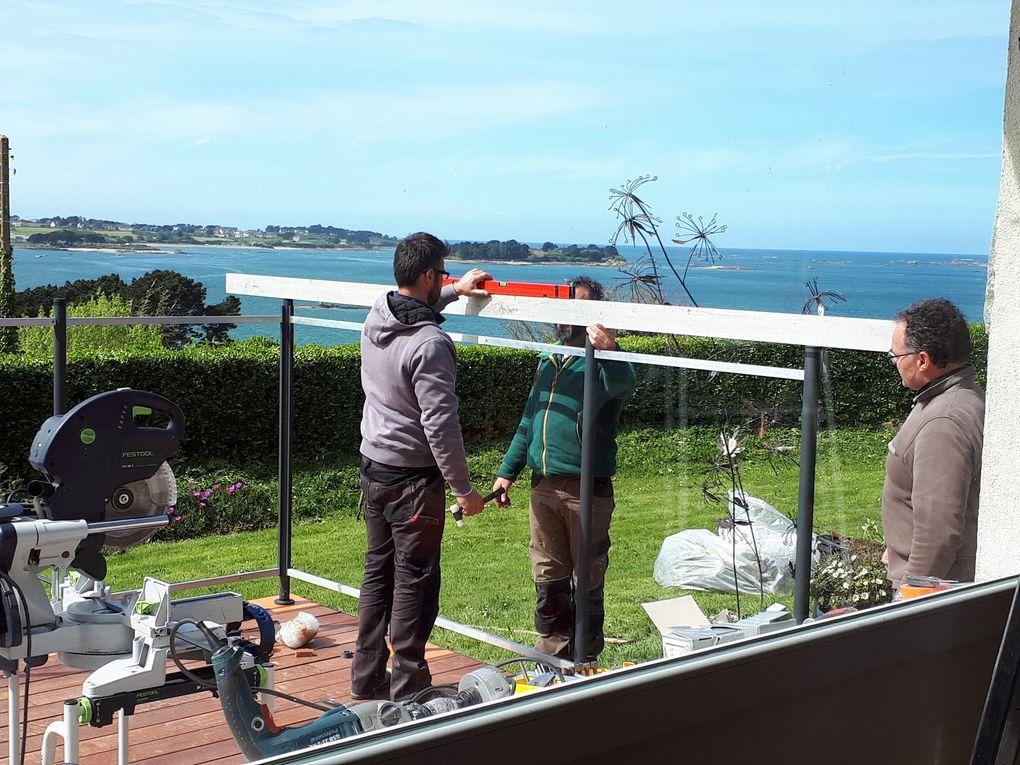 les étapes de la création et pose de la terrasse et des pare-vent