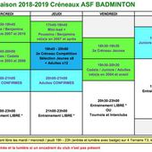 E-Inscriptions 2018/2019 - AS Fondettes Badminton