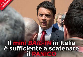 Il mini bail-in in Italia è sufficiente a scatenare il panico