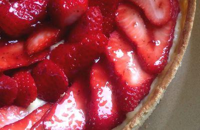 Tarte aux fraises, crème mousseline vanillée