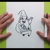 Como dibujar a papa noel paso a paso 10   How to draw Santa Claus 10