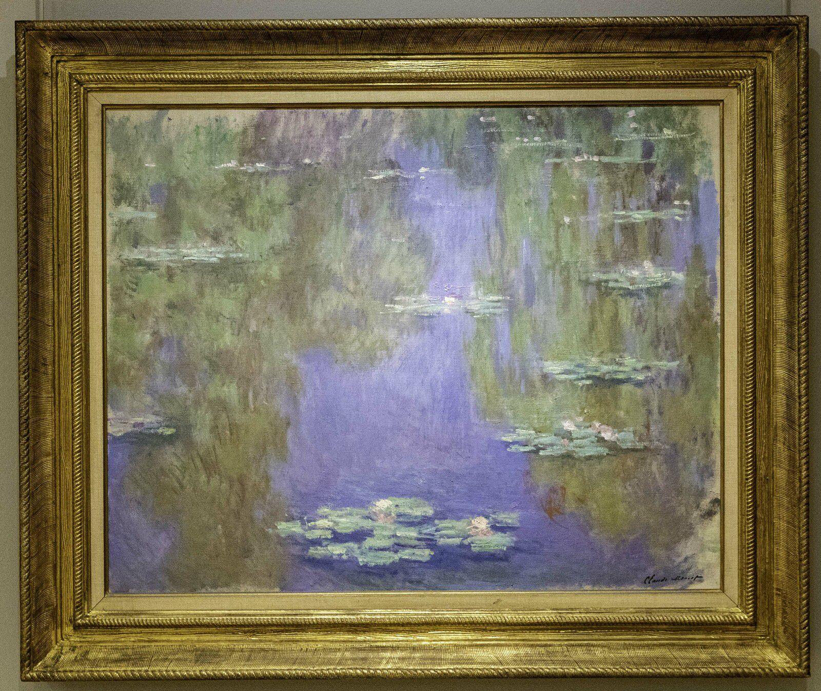 """Plusieurs peintures sur le thème """"Les nymphéas""""."""