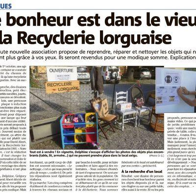 La Recyclerie Lorguaise est à la recherche d'un local ... plus grand !