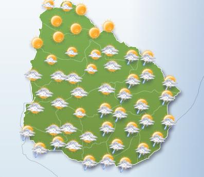 En las imagenes proporcionadas por Windy y Freemeteo, se observan algunas precipitaciones para mañana martes de escasa intensidad en lo que comprenden las zonas S y E, del pais