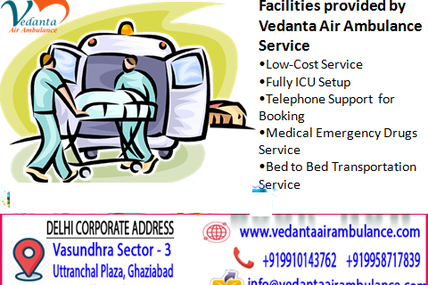 Abrupt Transferred of the patient from one city to another designated city by Vedanta Air Ambulance
