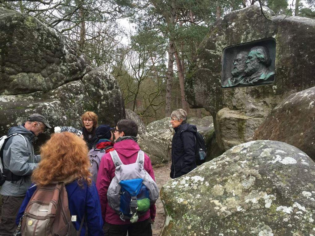 Sortie 1/2 journée du dimanche 10 janvier 2016 à Fontainebleau