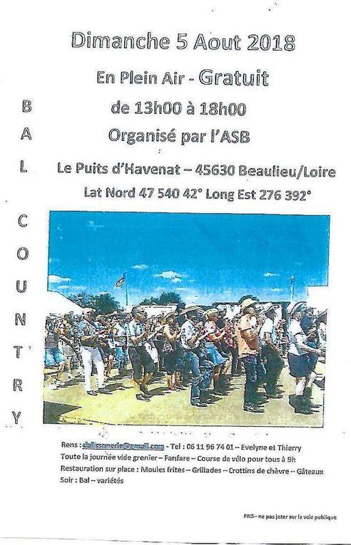 Medley photos & vidéos bal country au Puits d'Havenat 45630 le 5 Aout 2018