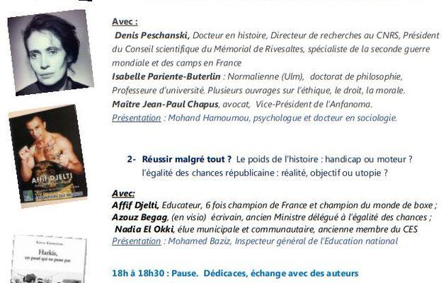 Rencontres Nationales, pour une loi de reconnaissance et de réparation salle Dumoulin à Riom (63)