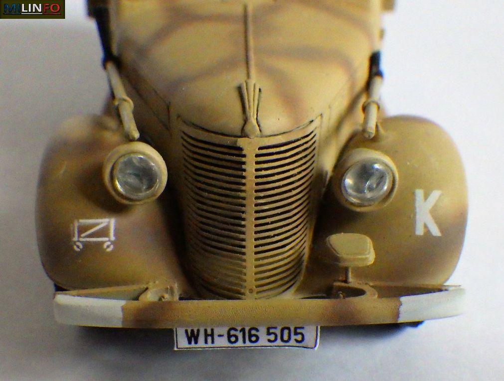 Camionnette Renault BFP Primaquatre, version Afrique du Nord «Afrika Korps 1942 (7 photos)