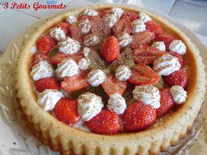 Tarte financière fraises-kiwis