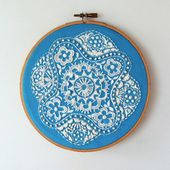 Displaying embroidery in a hoop