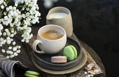 Gourmandises - Café - Macarons - Douceurs - Photographie - Wallpaper - Free