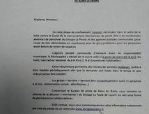Communiqué mairie La Vôge les Bains