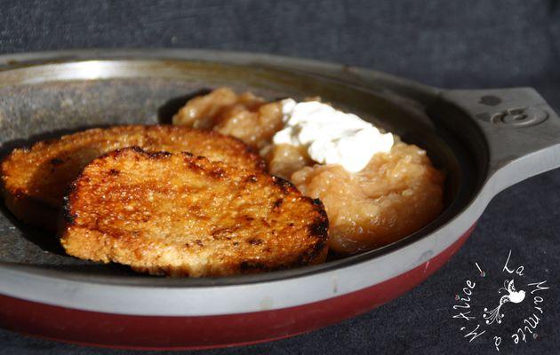 Pain Perdu Tonka & Fondue de Pommes au Miel