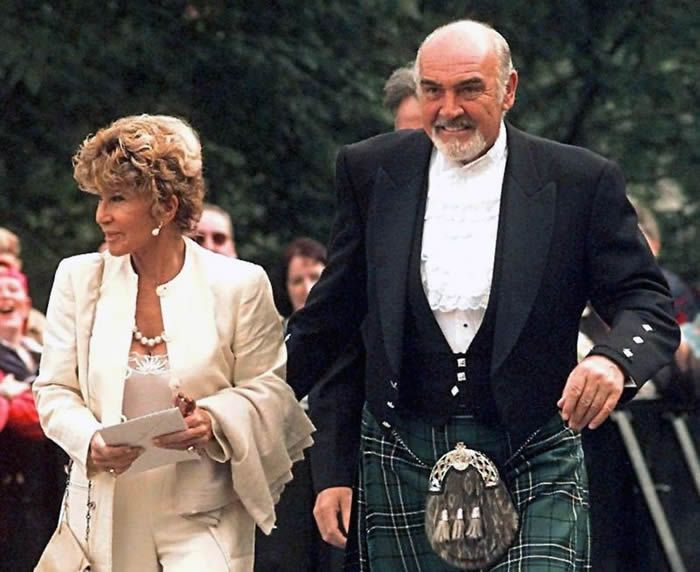The actor and his wife Micheline Roquebrune attended the opening of the first Scottish Parliament in 1999