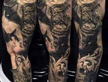 Tattoo Sleeve Portraits Cats