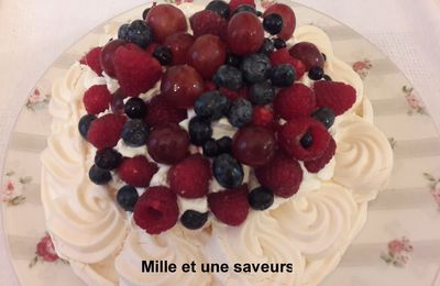 Pavlova et ses fruits rouges