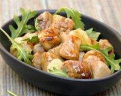 Wok de poulet au miel / Wok de pollo de miel