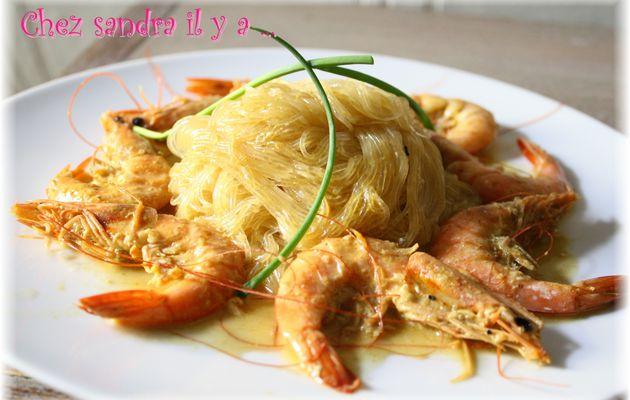 Crevettes au piment doux
