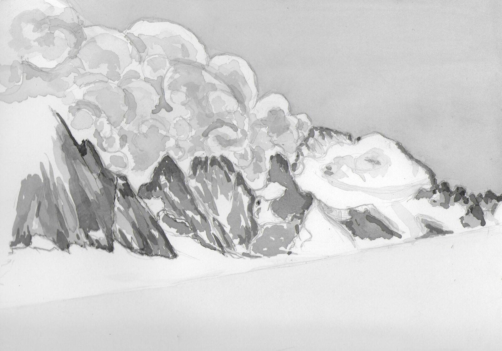 Les Ecrins face nord, la Barre et le Dôme, la vue classique depuis le glacier Blanc