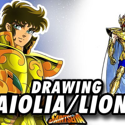 [Saint Seiya] Aiolia LION Gold Saint ! Speed Drawing ✏️ Comic Book Style ✏️ ♌️