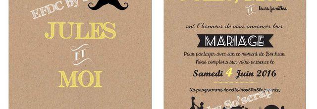 Une petite nouveauté pour ce début de mois de Novembre dispo au catalogue Mariage ... un faire part et ses options à personnaliser !