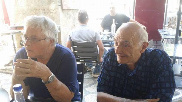 Michel Cadé à gauche et Roger Payrot à droite