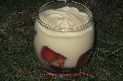 Verrines aux fraises façon Tiramisù