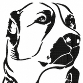 Dog free embroidery design