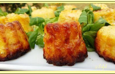 Cannelés Bacon, Comté, Courgettes