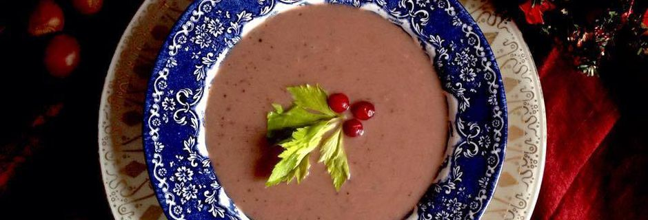 Holiday Special: Chestnut Cranberry Soup