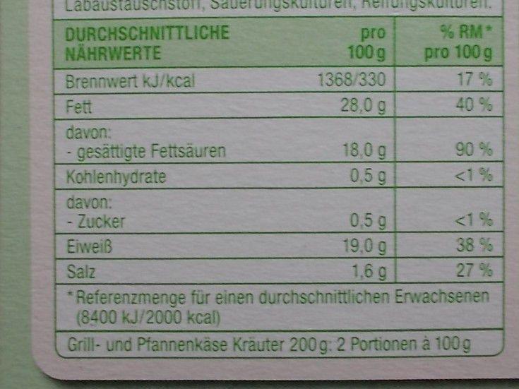 Edeka Gut & Günstig Grill- und Pfannen Käse Kräuter