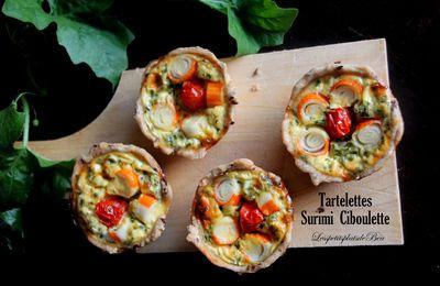 Tartelettes au surimi et à la ciboulette
