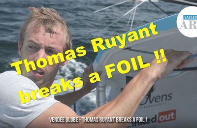 Vendée Globe 2020-2021 - Thomas Ruyant (LinkedOUT) breaks a foil