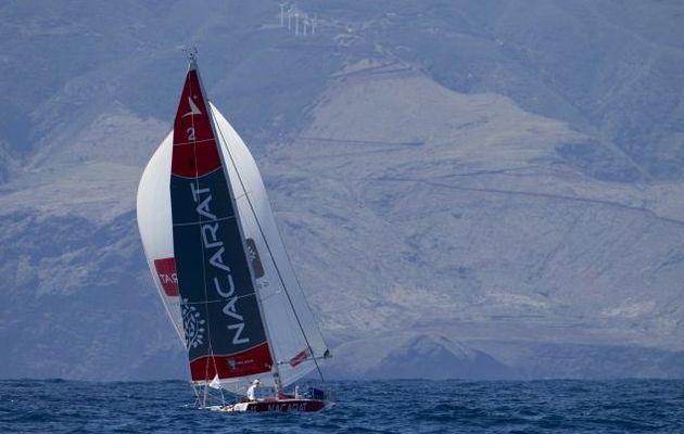 Transat AG2R - Nacarat, Cercle Vert, Gedimat en tête après La Palma