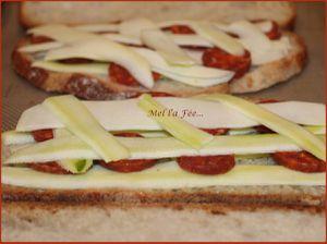 Croque courgette /chorizo