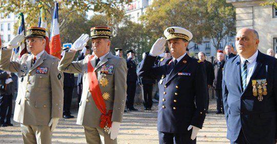 Le Général de Saint Chamas, le Général Benoît Pugat, le Médecin Général Giusse, notre 1er Vice Président Patrick Lamy.