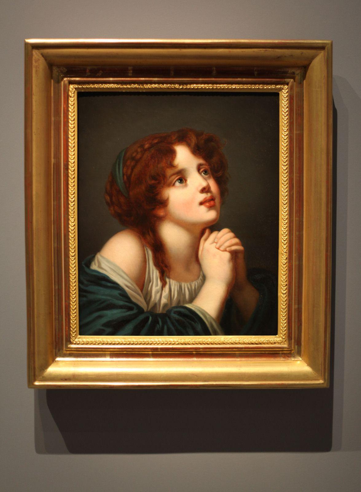 """""""La Suppliante d'après Jean Baptiste GREUZE"""", 1787 de Jeanne Philiberte LEDOUX (1767-1840) - Courtesy Collection Particulière  © Photo Éric Simon"""