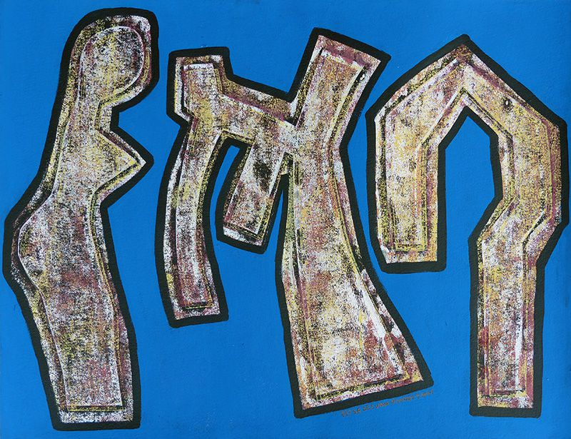 Peinture (monotype) d'Elise Desvaux Nsongo