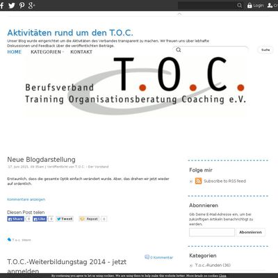 Aktivitäten rund um den T.O.C.