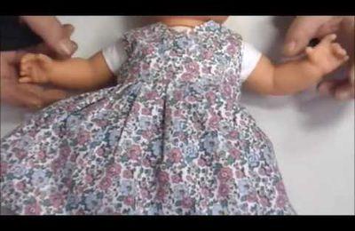 Patront et tuto robe cache-coeur poupon 36 cm