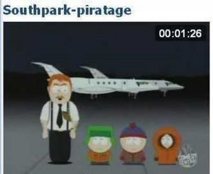 """Animation Southpark - le piratage: """"telecharger de la musique c'est mal"""""""