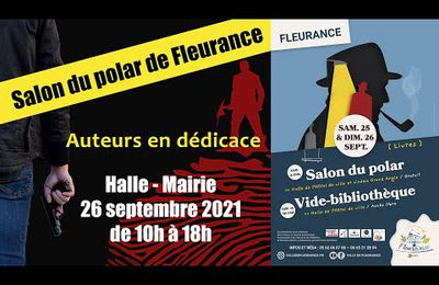 Salon du polar Fleurance le 26 septembre 2021