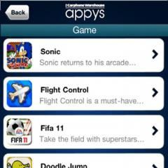 Carphone Warehouse launches Appys awards voting app for iPhone