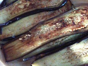 Pâtes à l'ail & légumes frits de Danièle