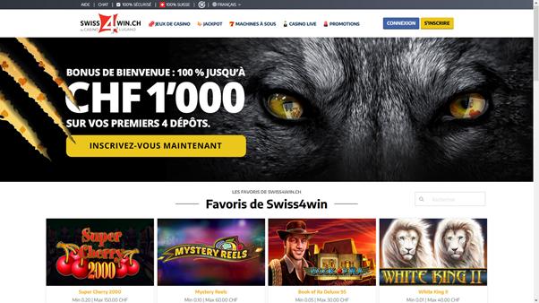 casino en ligne légal en Suisse Swiss4win casino de lugano