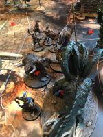 La charge du minotaure est dévastatrice, il aura fallut user de nombreuses cartes activation pour le finir et Athéna est presque finie !