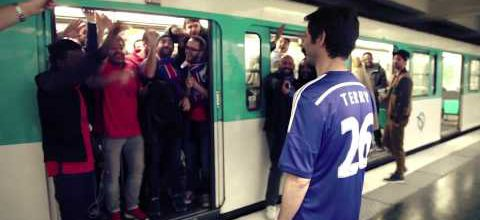 Happy PSG Fans Shove Terry Off Paris Metro Train