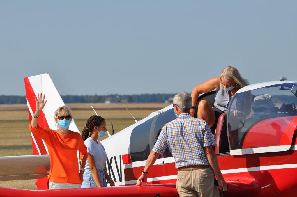 Survol des Châteaux de la Loire pour les membres de Femmes 41 à l'aérodrome Le Breuil Blois-Vendôme !