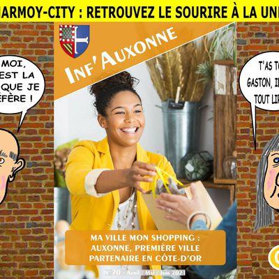 CHARMOY-CITY : SOURIRE À LA UNE - du 9 AVRIL 2021 (J+4496 après le vote négatif fondateur)